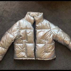 H&M Divided Silver Puffer Jacket